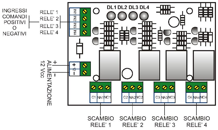 Schema Collegamento Open Collector : Ss oca modulo rileva tensioni securvera impianto antifurto