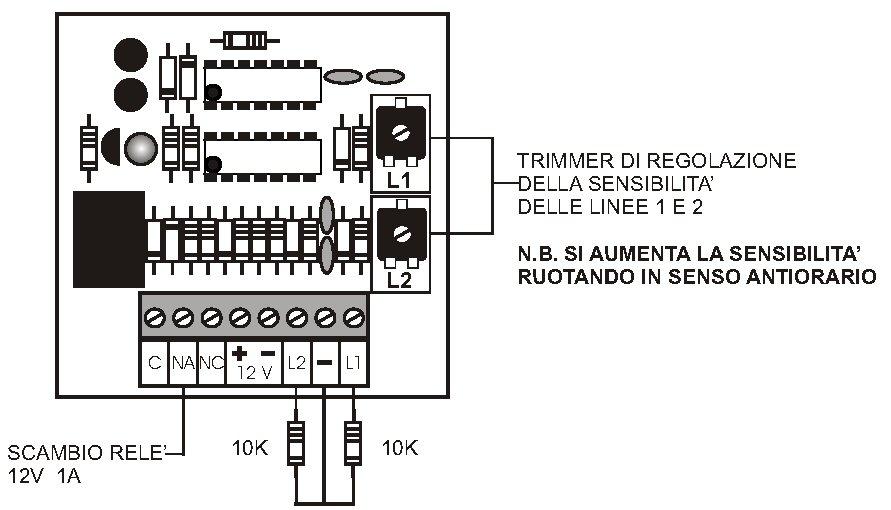 Schema Collegamento Equalizzatore Ad Amplificatore : Ss twn amplificatore sensori inierziali securvera antifuto